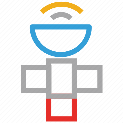 antenna, booster, communication satellite, satellite dish icon