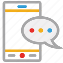 chat, mobile, mobile communication, speech bubble icon