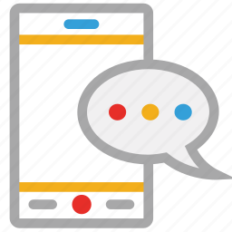 chat, mobile, mobile communication, speech bubble icon