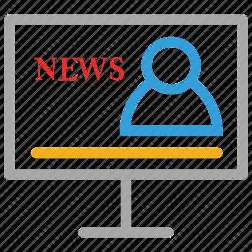 media, news, news casting, social icon