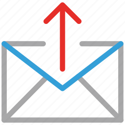 mail, mail sign, up sing, upload mail icon