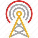 antenna, communication tower, wireless, wireless communication tower icon