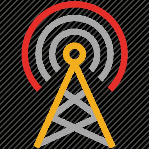 antenna, communication tower, wireless, wireless communication tower icon