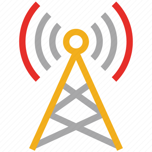 communication antenna, communication tower, wireless communication tower, wireless tower icon