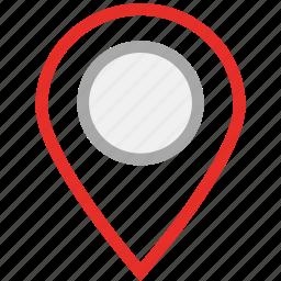 gps, map pin, navigation, pin icon