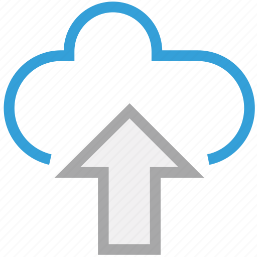 cloud network, up sign, upload, uploading icon