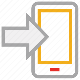 call, incoming, message, mobile icon
