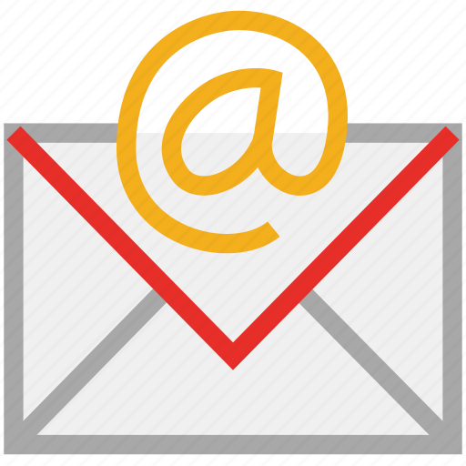@ sign, electronic mail, email sign, mail sign icon