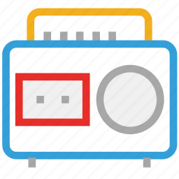 audiotape, boombox, player, stereo icon