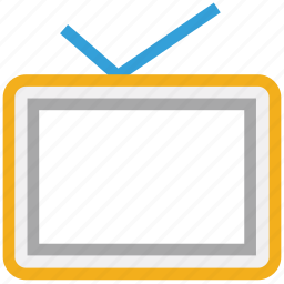 monitor, television, tv, tv antenna icon
