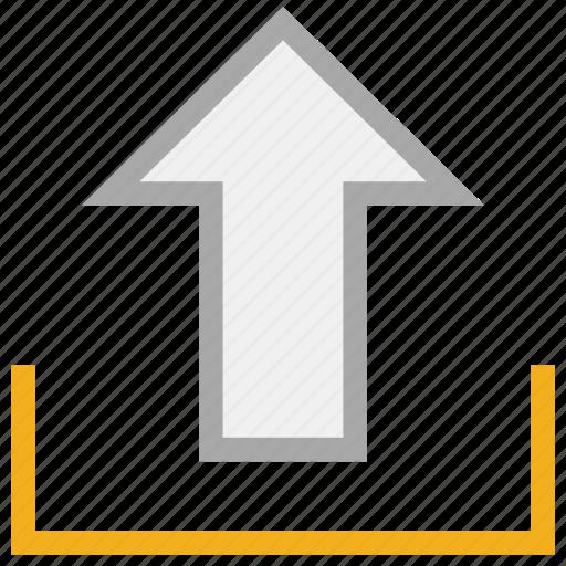 up arrow, up sign, upload, uploading icon