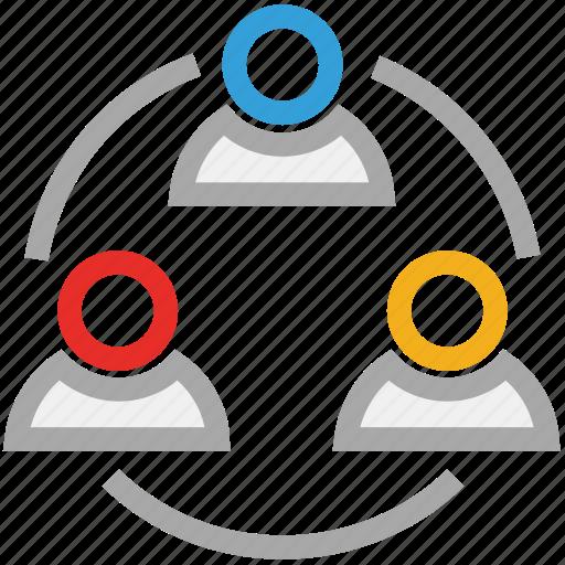 online businessmen, online employs, people, teamwork icon