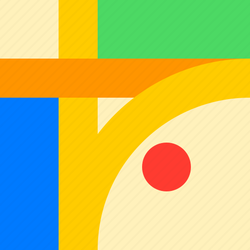 adaptive icon, communications, devices, ios, locations, map, material grid icon