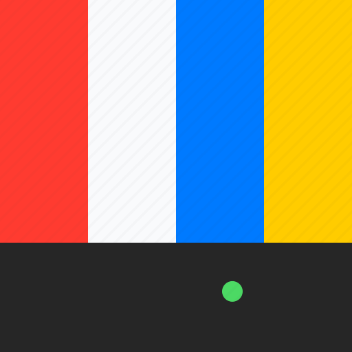 adaptive icon, communications, devices, ios, material grid, screen, television icon