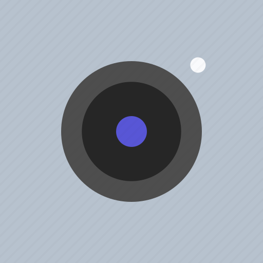 adaptive icon, camera, communications, devices, ios, lens, material grid icon