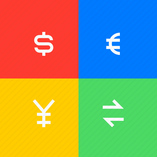 adaptive icon, communications, currency, devices, ios, material grid, stock exchange icon