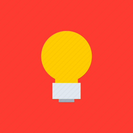 adaptive icon, bulb, communications, devices, idea, ios, material grid icon