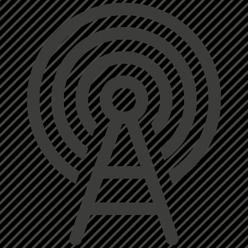antenna, network, signal, wireless icon