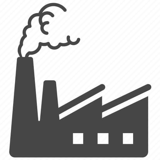 air contamination, building, factory, industry, manufacturing, plant, pollution icon