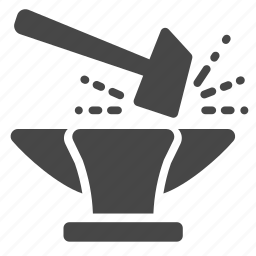 blacksmith, building, communist, factory, force, hammer, industry icon
