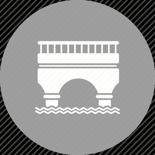 architecture, bridge, construction, highway, road, suspension, town icon
