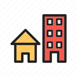 business, cities, community, houses, peoples, roads, streets icon