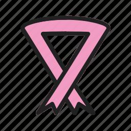 awareness, cancer, community, decorative, red, ribbon, walk icon