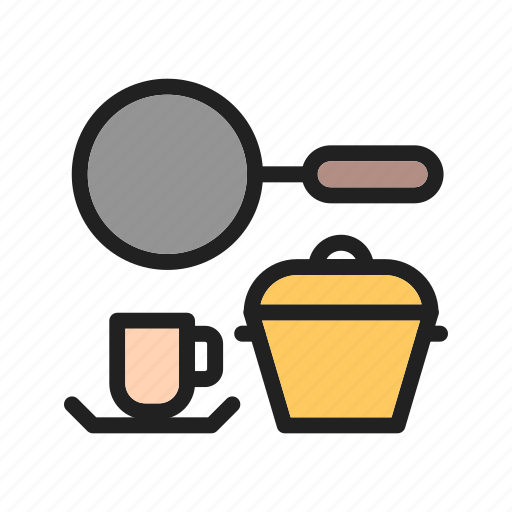 crockery, dish, home, kitchen, kitchenware, set, table icon