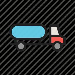 community, help, industrial, people, truck, water, work icon