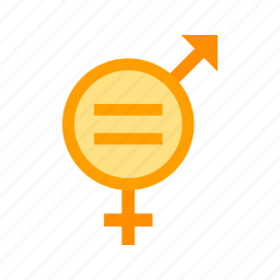 arrow, equality, female, gender, male, people, sign icon