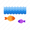 fish, life, marine, ocean, sea, underwater, water icon
