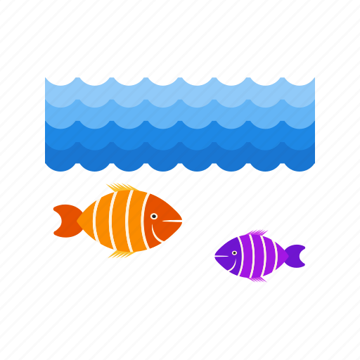 fish, life, marine, ocean, sea, underwater, water icon