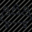 company, picnic table, service icon