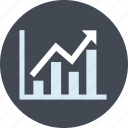 analytics, business, chart, growth, line icon