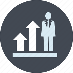 business, chart, effective, people, strategies, success icon