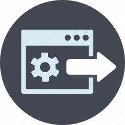 development, inner, line, page, seo, website icon