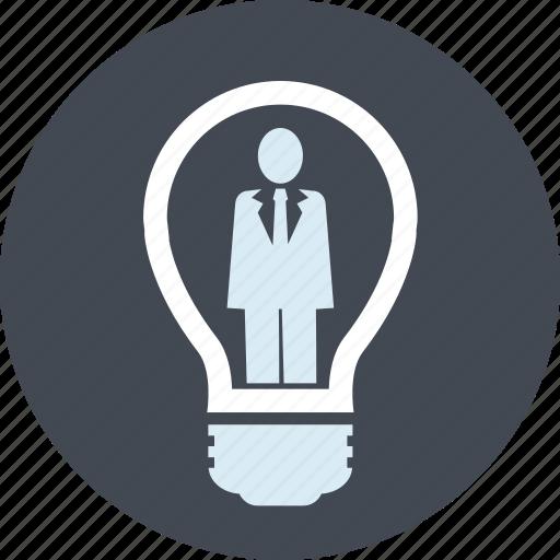 brainstorming, business, idea, innovation, line, people icon
