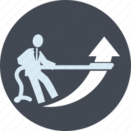 business, content, integrated, line, people, strategy icon