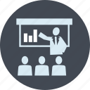 business, conference, marketing, meeting, people, planning, presentation icon