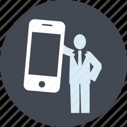 advertising, app, internet, marketing, mobile, people, social media icon