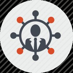 affiliate, communication, community, internet, marketing, networking, social media icon