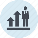 business, chart, effective, people, strategy, success icon