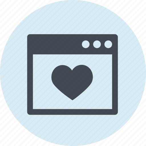 favorite, heart, line, rating, seo, website icon