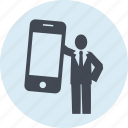 advertising, app, internet, marketing, mobile, people, social media icon