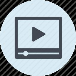 internet, marketing, media, movie, social, tutorial, video icon