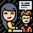 reception, customer, registration, information, service