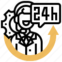 consult, general, help, hours, service icon