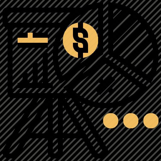 analysis, distribution, market, profit, share icon