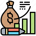 analysis, budget, finance, investment, profit icon