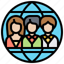 employment, human, outsourcing, recruitment, resources icon